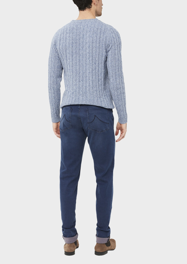 Jean skinny en coton stretch bleu chambray - Father and Sons 36949
