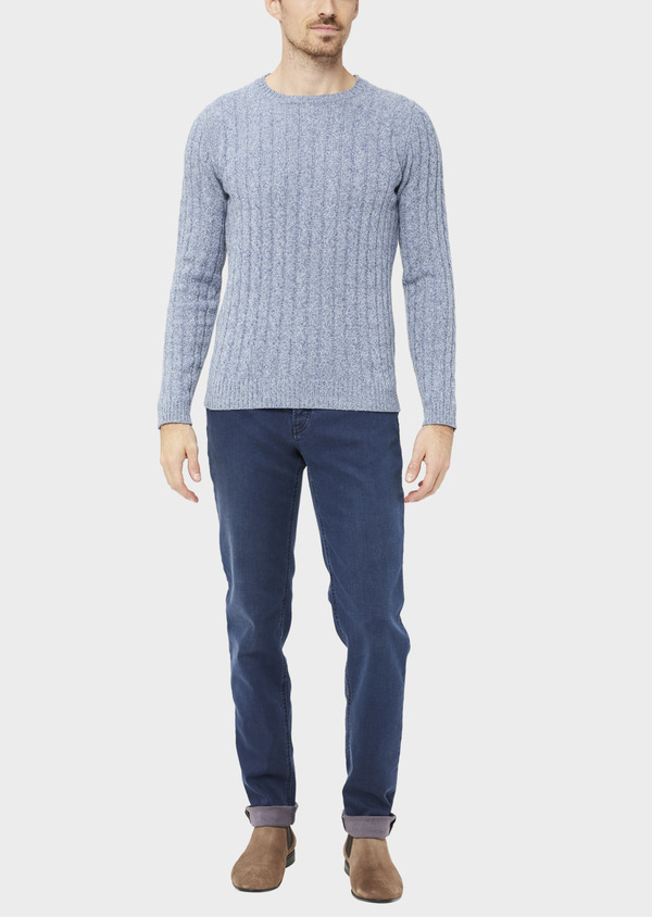 Jean skinny en coton stretch bleu chambray - Father and Sons 36948