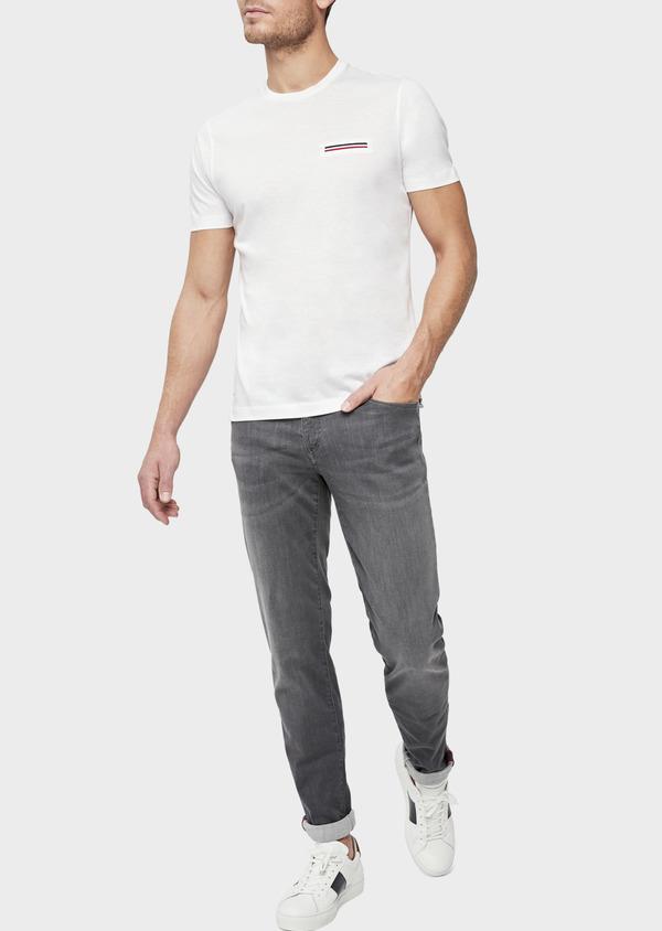Jean skinny en coton mélangé stretch gris - Father and Sons 39207