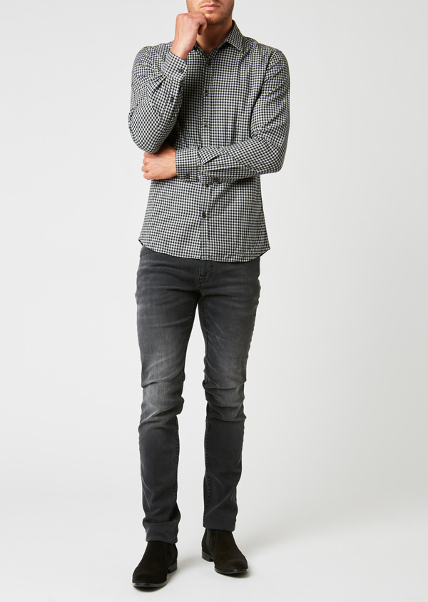 Jean skinny en coton gris anthracite - Father and Sons 26821