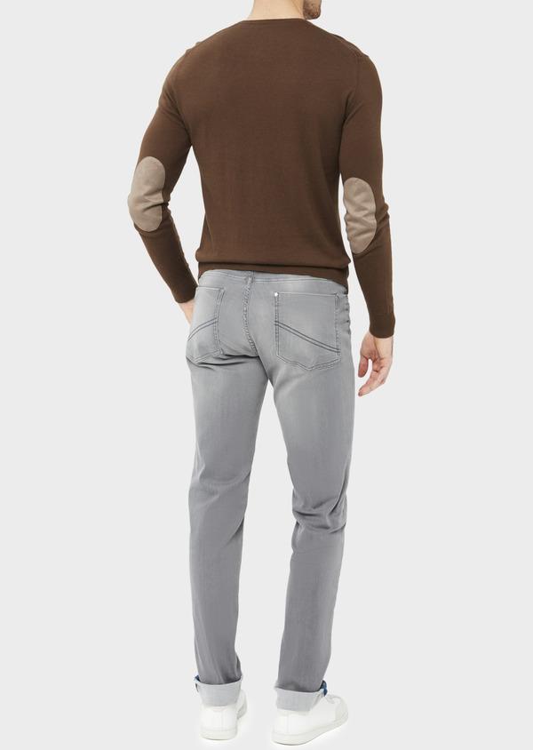Jean skinny en coton mélangé stretch gris clair - Father and Sons 36705