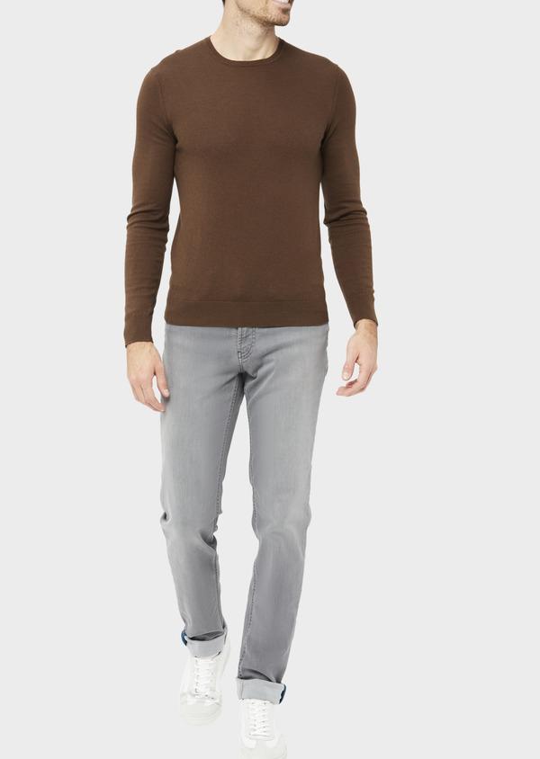 Jean skinny en coton mélangé stretch gris clair - Father and Sons 36704