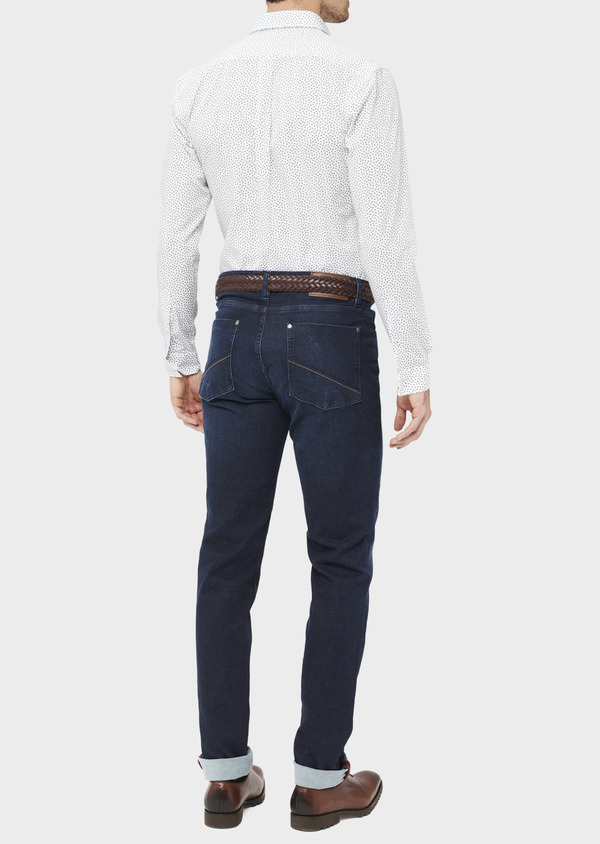 Jean skinny en coton stretch bleu indigo - Father and Sons 36709