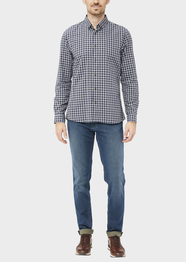 Jean skinny en coton stretch bleu indigo - Father and Sons 36956