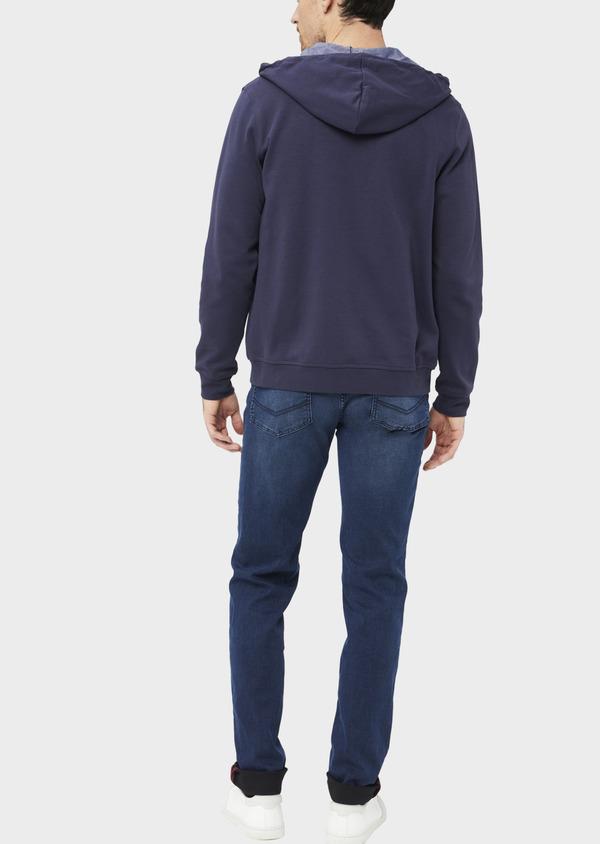 Jean skinny en coton mélangé bleu indigo - Father and Sons 36713