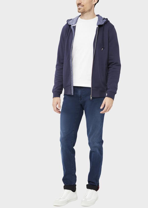 Jean skinny en coton mélangé bleu indigo - Father and Sons 36712