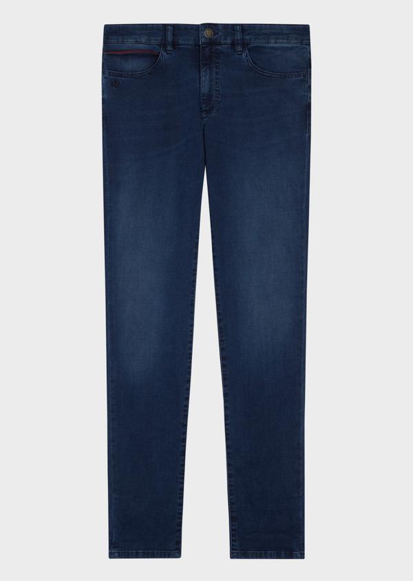 Jean skinny en coton mélangé bleu indigo - Father and Sons 36710