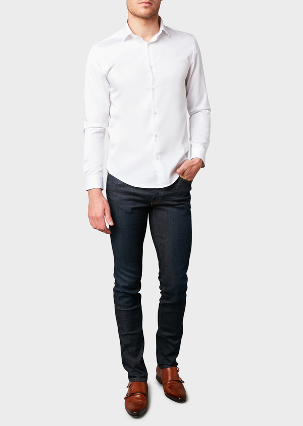 Jean skinny en coton stretch bleu brut - Father and Sons 18159
