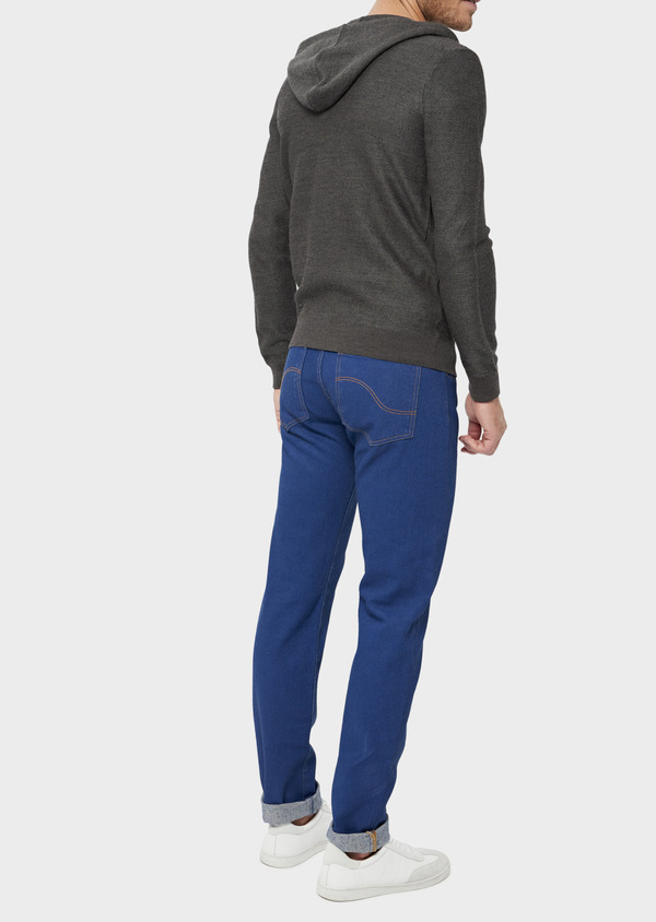 Jean skinny en coton bleu - Father and Sons 36031