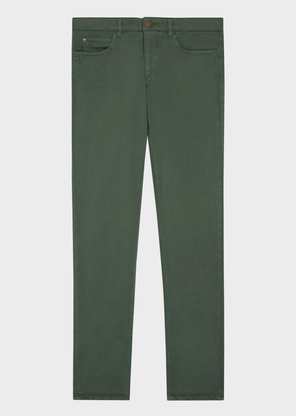Jean skinny en coton strech vert kaki - Father and Sons 36714