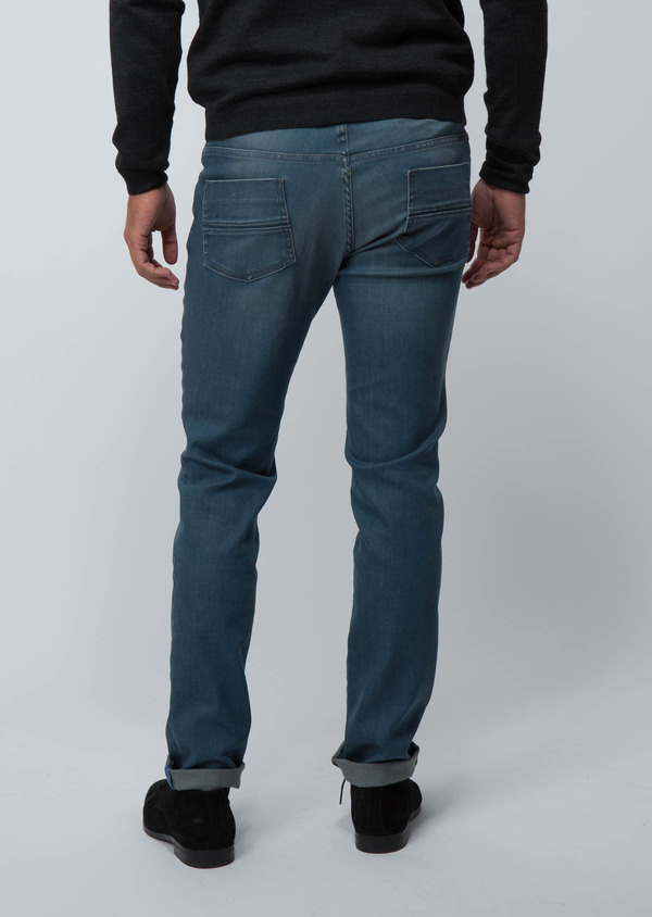 Jean skinny en coton stretch bleu - Father and Sons 30149