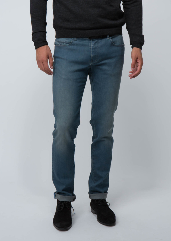 Jean skinny en coton stretch bleu - Father and Sons 30148