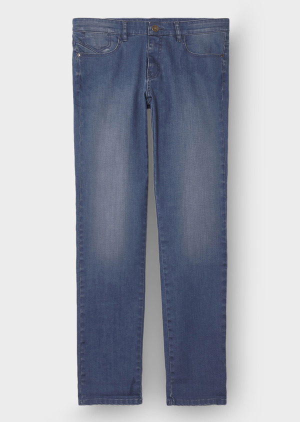 Jean skinny en coton stretch bleu - Father and Sons 30147