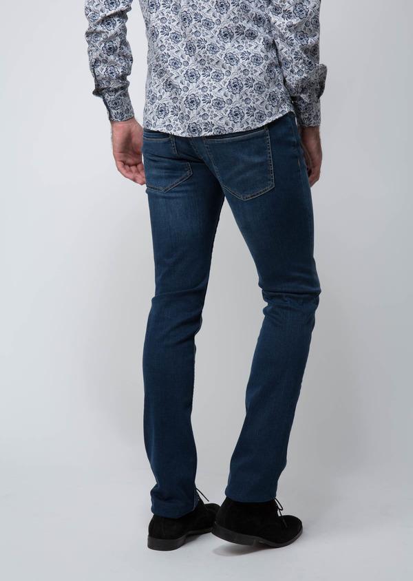 Jean skinny en coton hyperflex bleu - Father and Sons 29120
