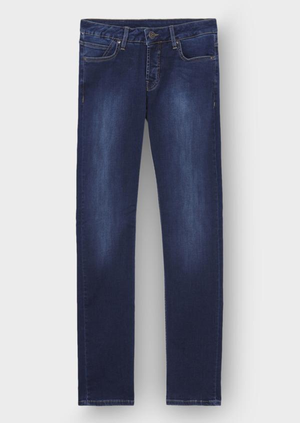 Jean skinny en coton hyperflex bleu - Father and Sons 29118