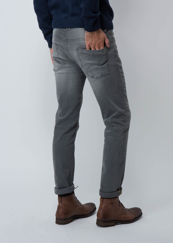 Jean skinny en coton stretch gris clair - Father and Sons 30154