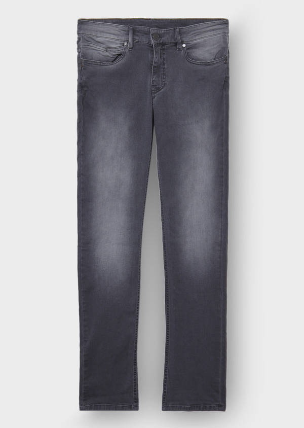 Jean skinny en coton stretch gris clair - Father and Sons 30152