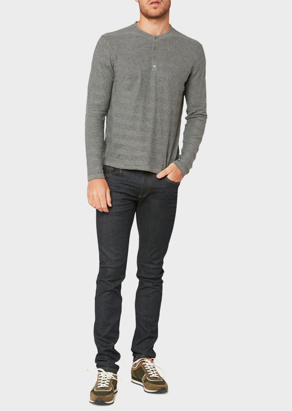 Jean skinny en coton stretch bleu brut - Father and Sons 34212