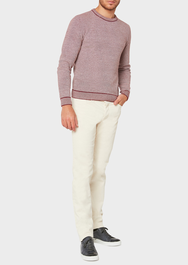 Jean skinny en coton stretch beige - Father and Sons 33197