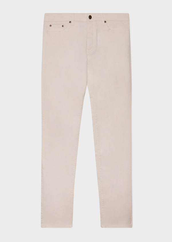 Jean skinny en coton stretch beige - Father and Sons 33195
