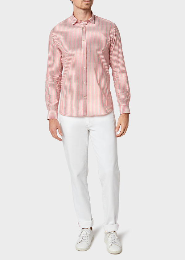 Jean skinny en coton stretch blanc - Father and Sons 33201