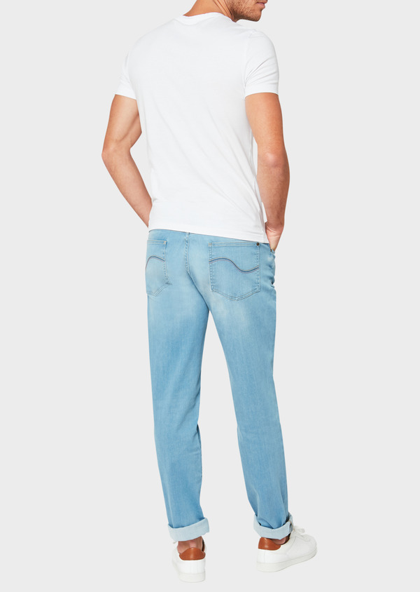 Jean skinny en coton stretch bleu clair - Father and Sons 33190