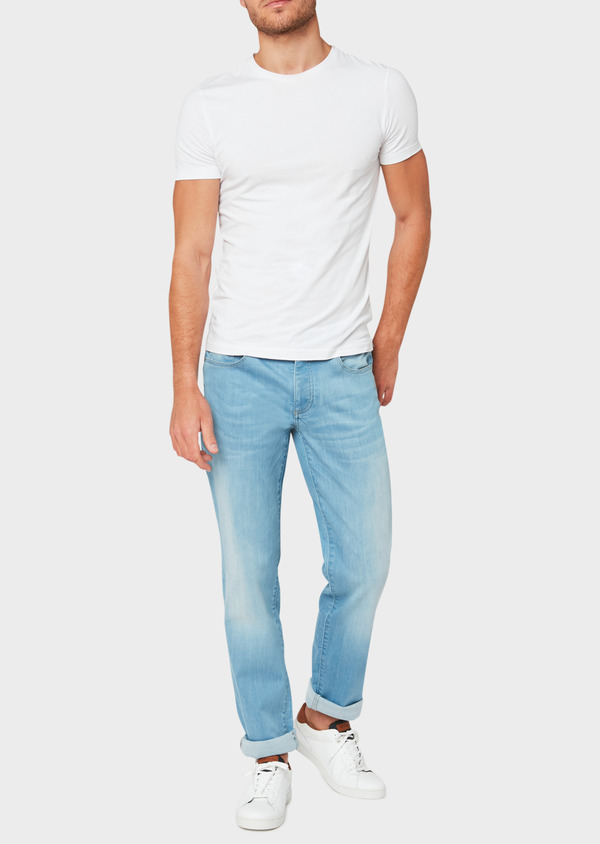 Jean skinny en coton stretch bleu clair - Father and Sons 33189