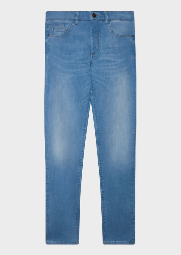 Jean skinny en coton stretch bleu clair - Father and Sons 33187