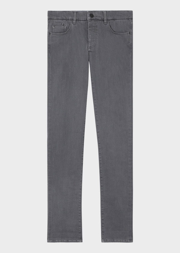 Jean skinny en coton stretch gris clair - Father and Sons 33191