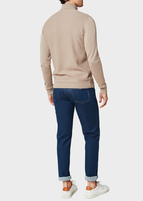 Jean skinny en coton stretch bleu indigo - Father and Sons 33186
