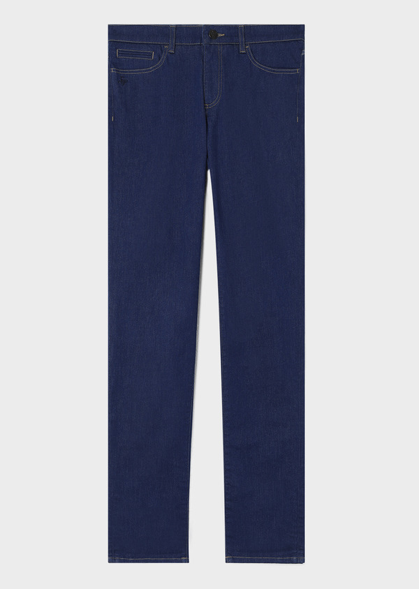 Jean skinny en coton stretch bleu indigo - Father and Sons 33183