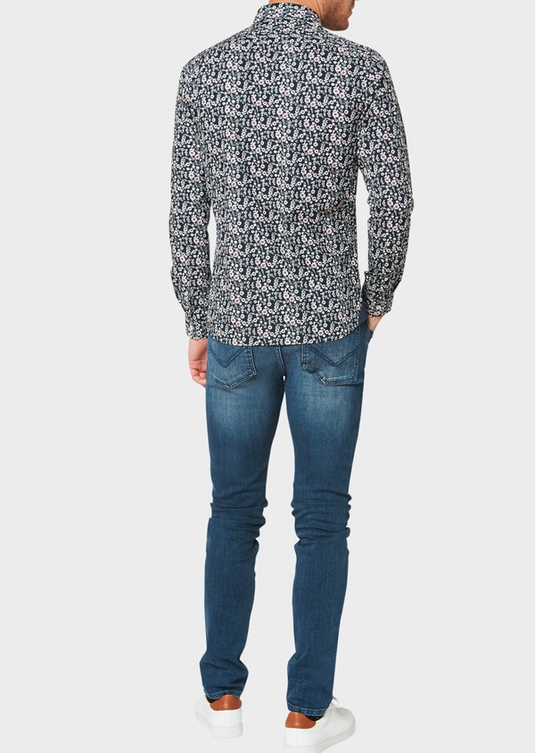 Jean skinny en coton stretch délavé bleu - Father and Sons 33175