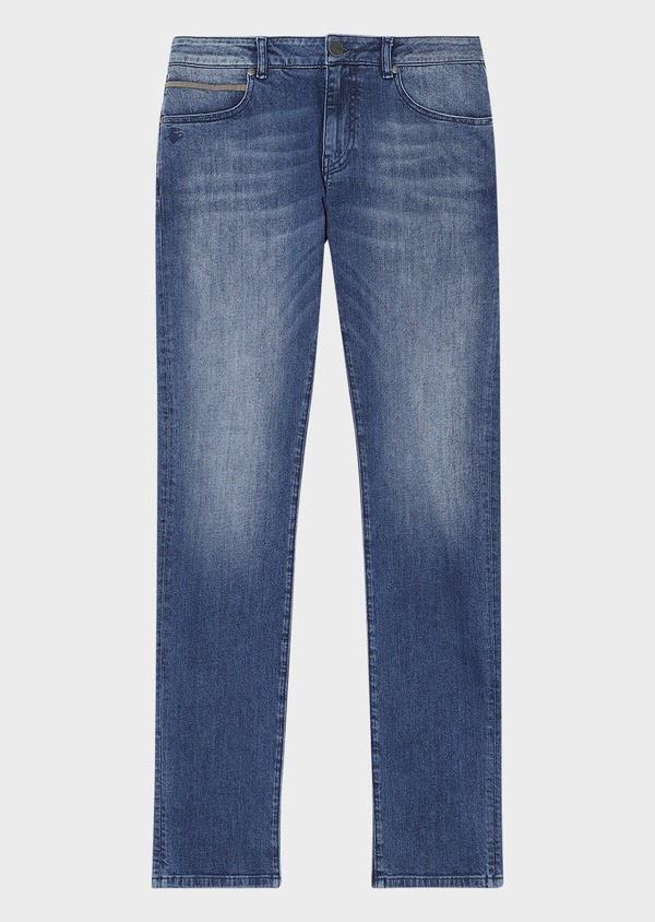Jean skinny en coton stretch délavé bleu - Father and Sons 33172