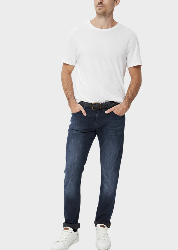 Jean skinny en coton stretch bleu marine - Father and Sons 34489