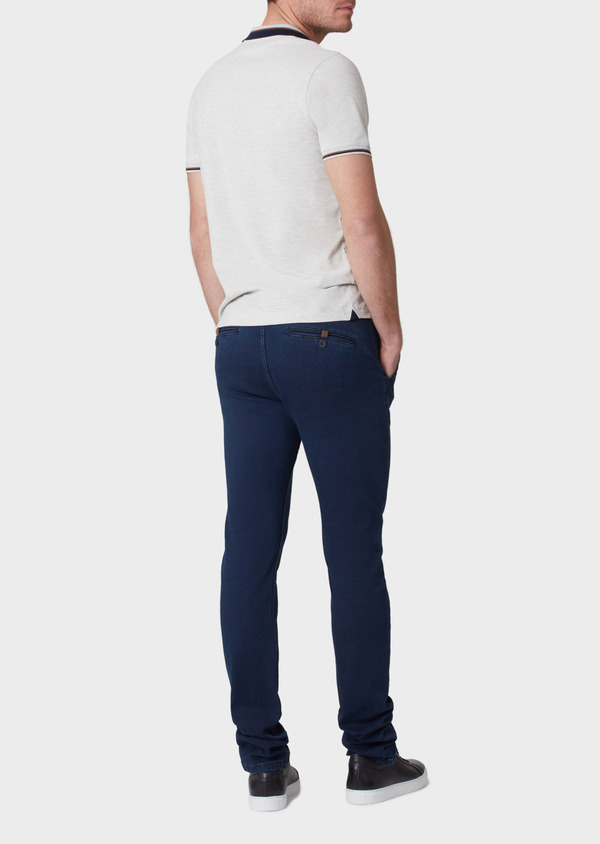 Jean skinny brut en coton stretch bleu marine - Father and Sons 34149