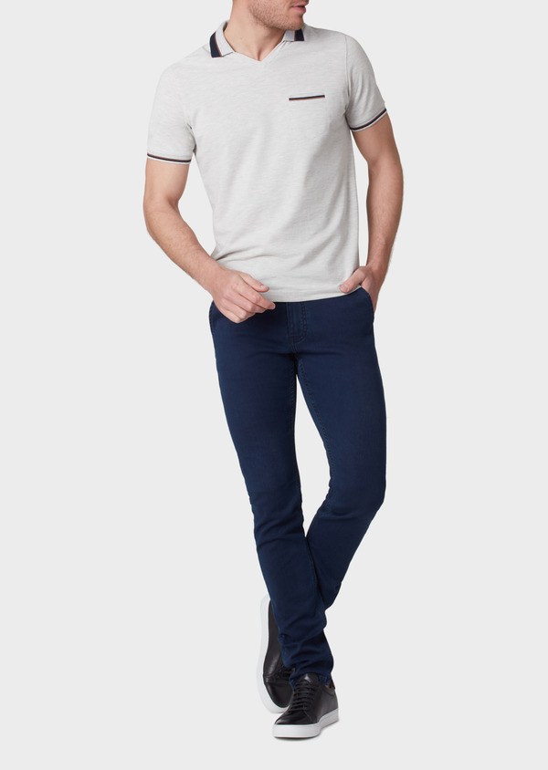Jean skinny brut en coton stretch bleu marine - Father and Sons 34148