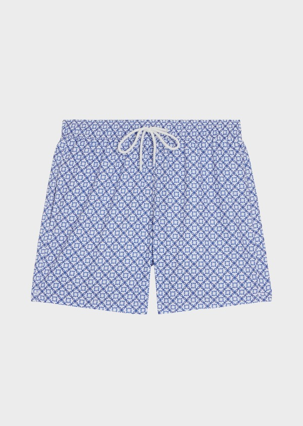 Maillot de bain bleu marine à motifs géométriques - Father and Sons 34305