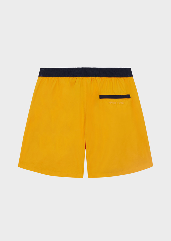 Maillot de bain uni jaune - Father and Sons 34301