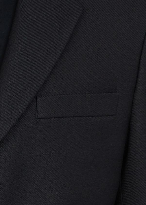 Manteau en laine mélangée unie bleu marine avec parementure amovible en suédine - Father and Sons 37657