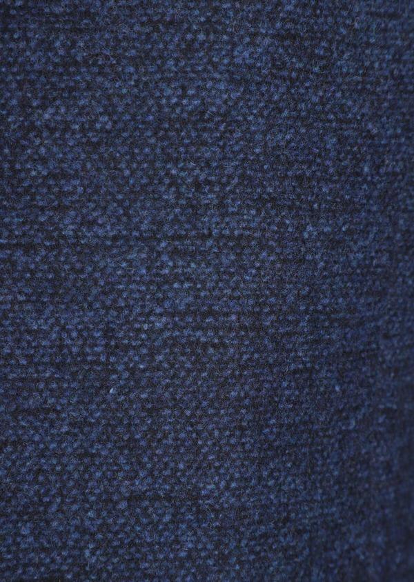 Manteau en laine mélangée bleu indigo à motif fantaisie - Father and Sons 36052