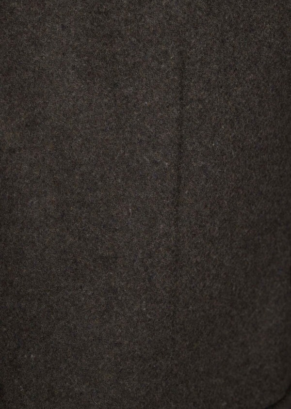 Manteau en laine mélangée à motif fantaisie vert kaki - Father and Sons 36749
