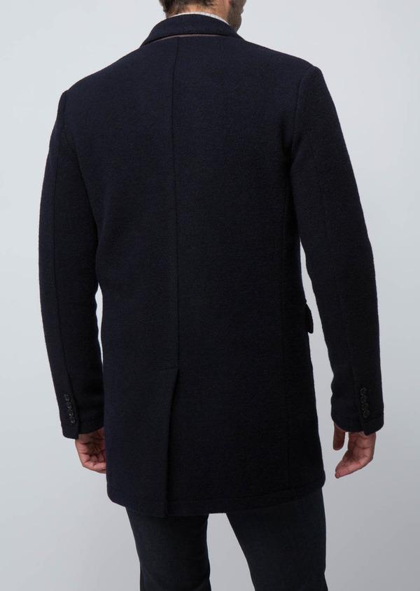Manteau en laine mélangée bleu marine - Father and Sons 29432