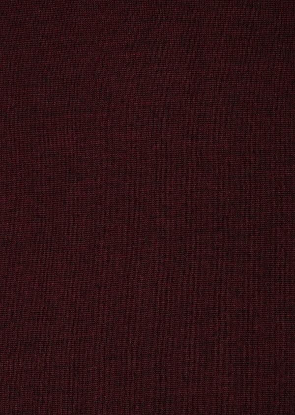 Cardigan en laine Mérinos mélangée unie bordeaux - Father and Sons 36385