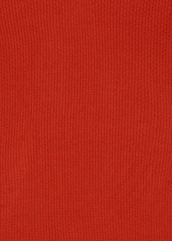 Pull en laine mérinos col V uni orange - Father and Sons 26862