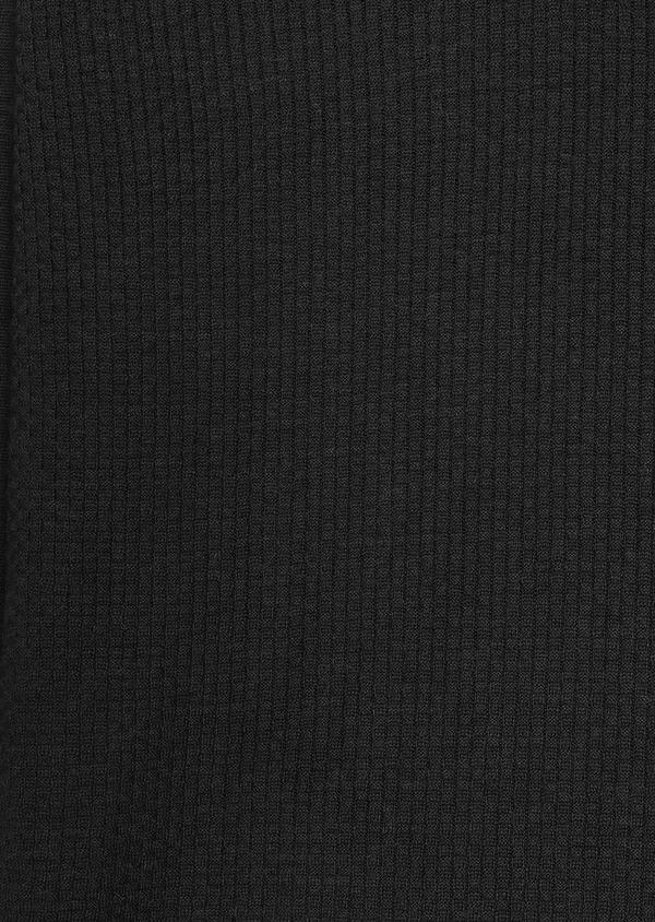 Pull en laine mérinos col V uni vert kaki - Father and Sons 27924