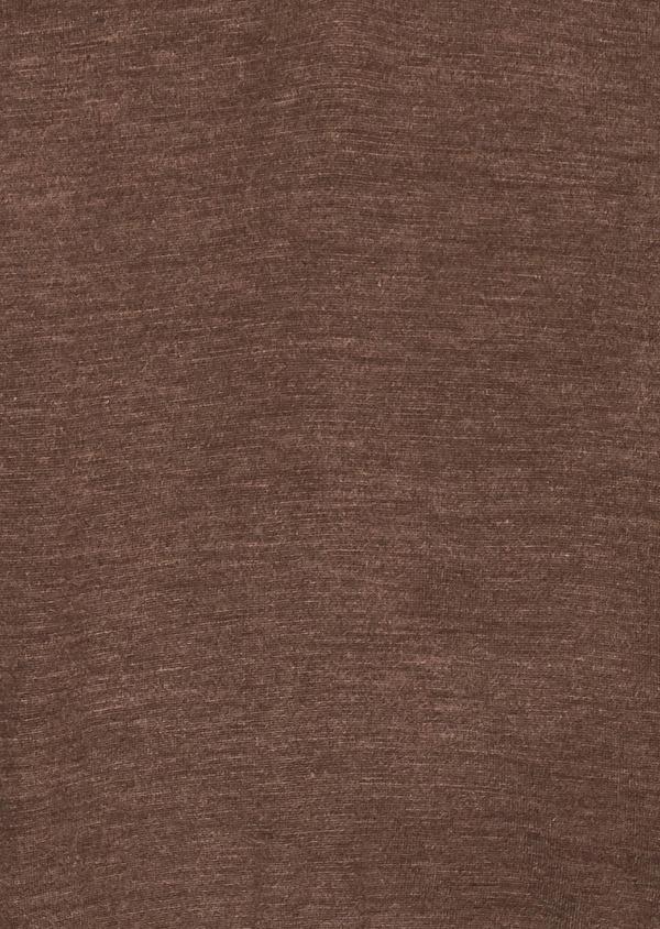 Pull en laine mérinos col montant zippé beige foncé - Father and Sons 30794