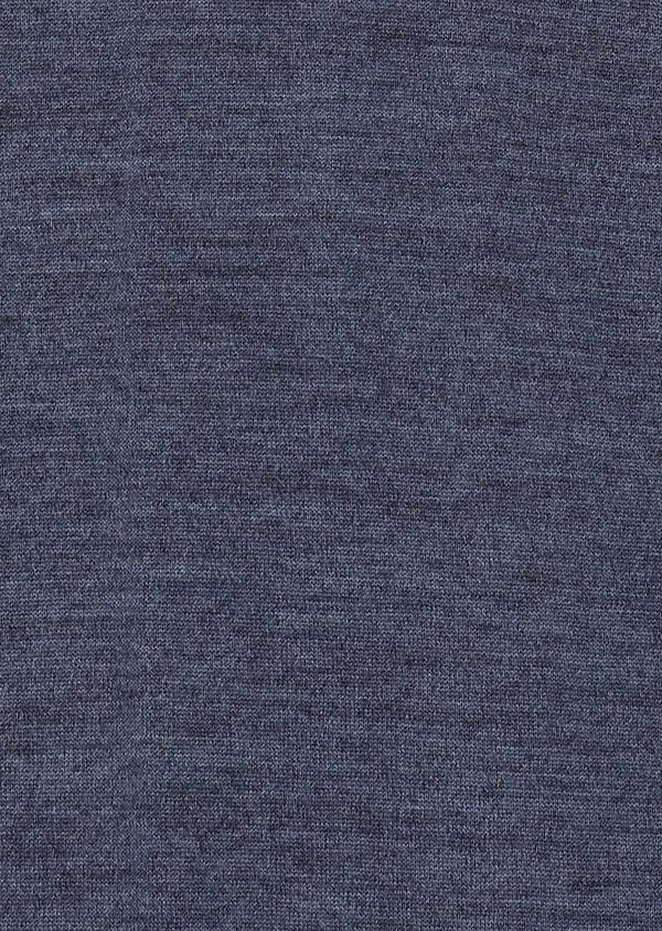 Pull en laine mérinos col roulé uni bleu - Father and Sons 27978