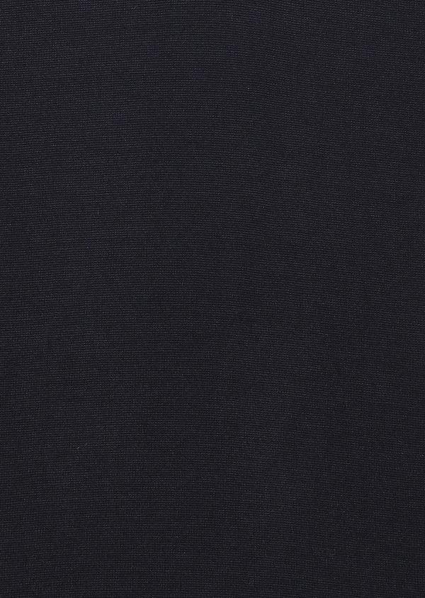 Pull en laine mérinos col V uni bleu marine - Father and Sons 27890