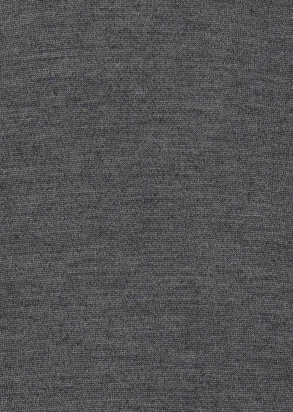 Pull en laine mérinos col roulé uni gris moyen - Father and Sons 27966