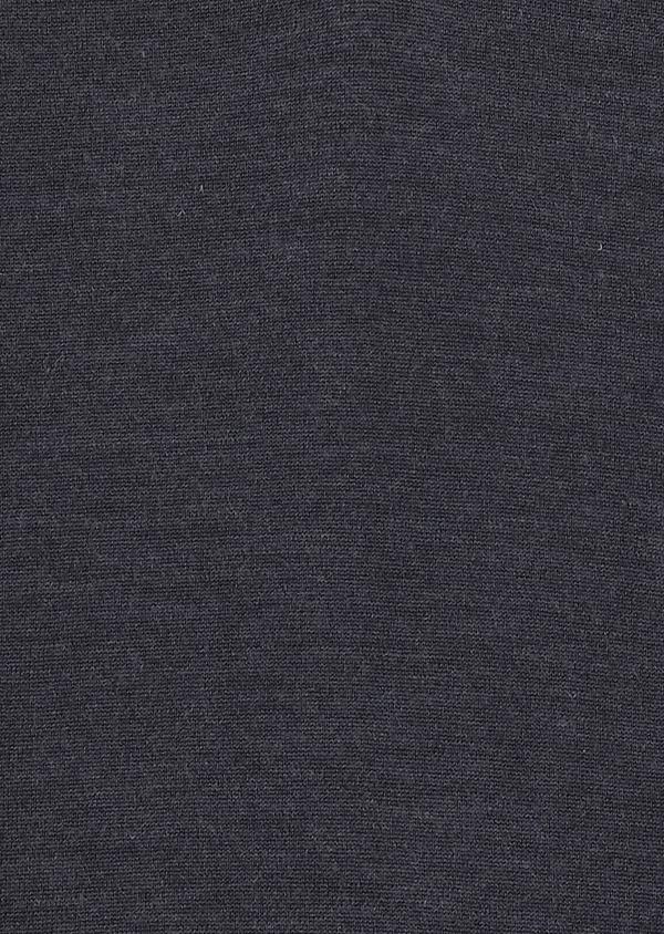 Pull en laine mérinos col V uni bleu indigo - Father and Sons 27916